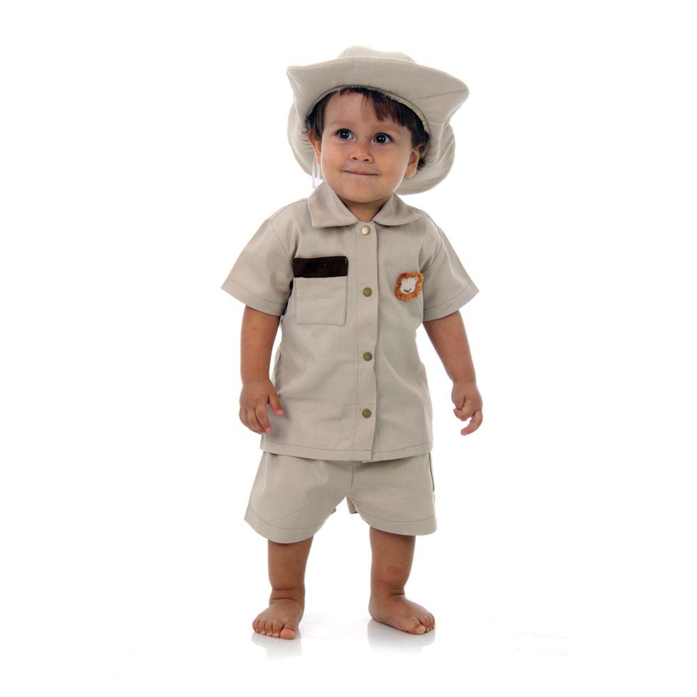 9cb5b1dda Fantasia Safari Bebê - Escoteiro para neném - Abrakadabra