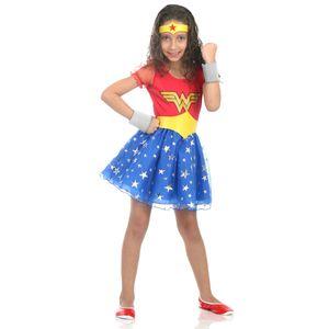Fantasia Mulher Maravilha Infantil Princesa