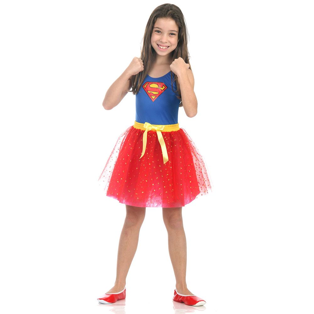 95bf131a76cea9 Fantasia Super Mulher Infantil Dress Up - Abrakadabra - Clube de Herois