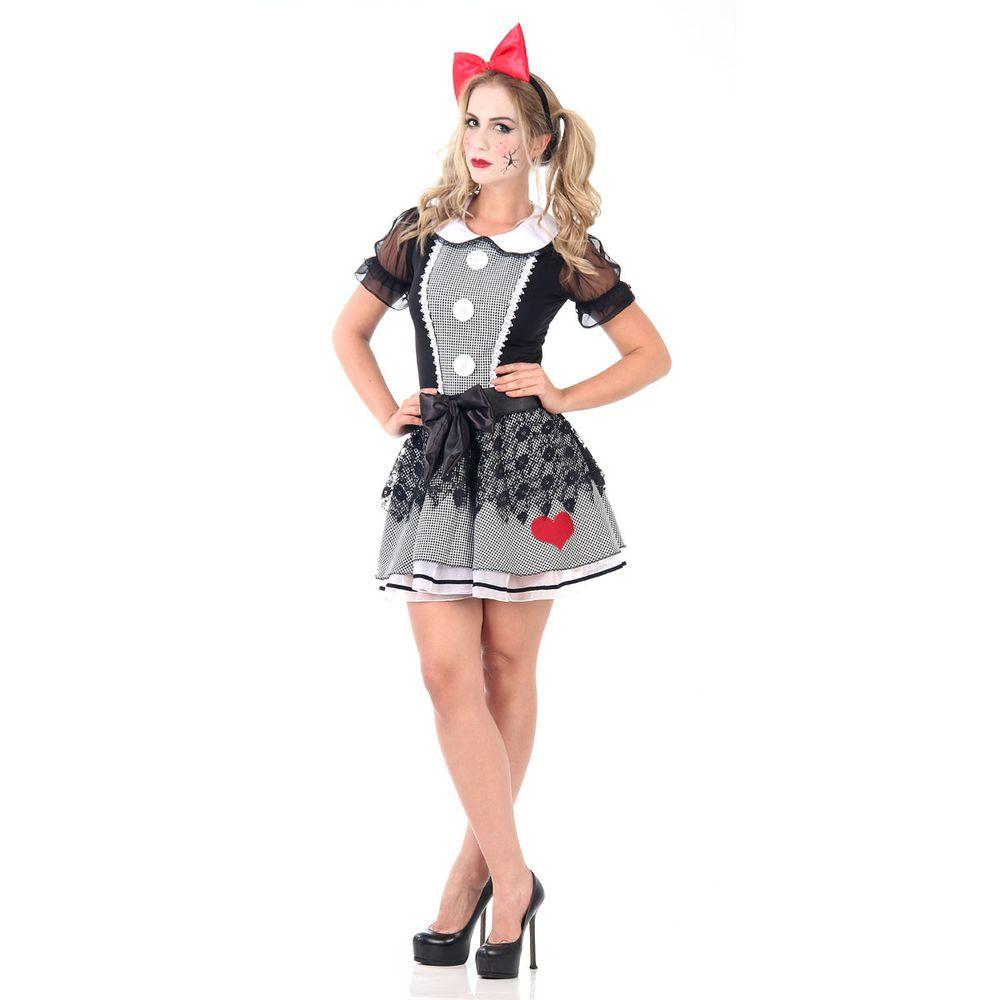 Preferência Fantasia Boneca do Mal com vestido - Fantasias de Halloween  SK67