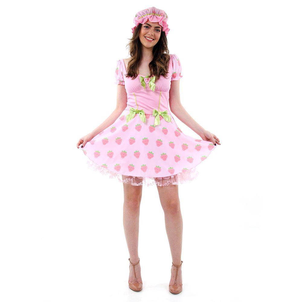 3c2c9764e53bd Fantasia Moranguinho adulta para carnaval e outros - Berry Beauty ...