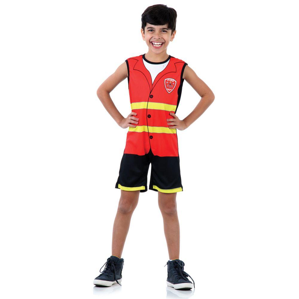 4772fbb8031d6e Fantasia de bombeiro infantil - Super Pop - Abrakadabra