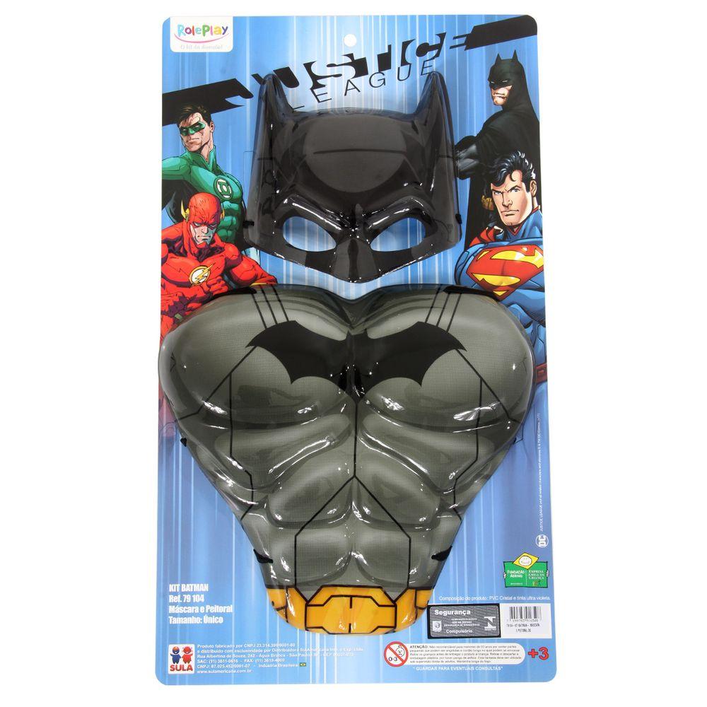 Kit Batman DC - Máscara e Peitoral   Abrakadabra - Clube de Herois b7b6603170