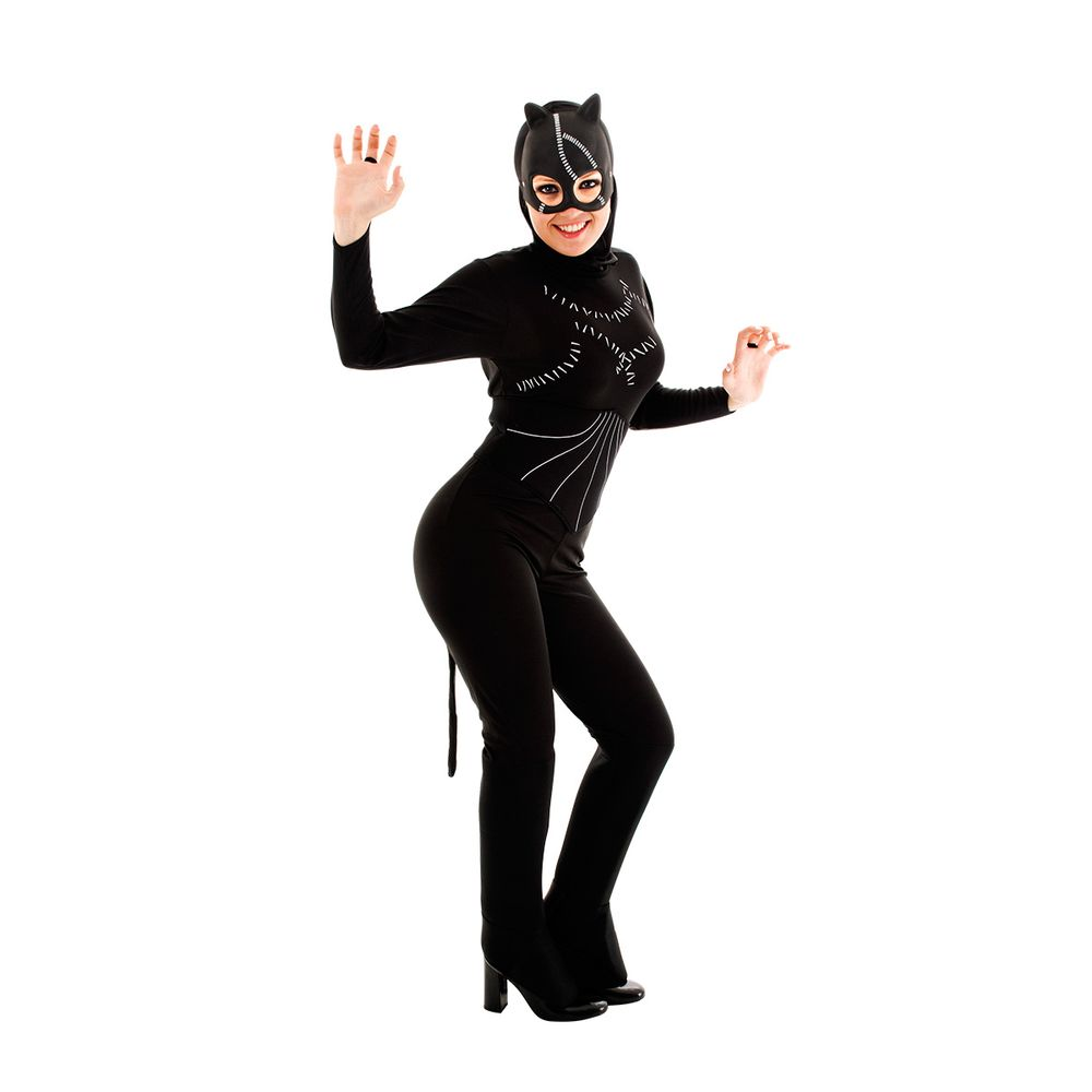 a08e01191 Fantasia Mulher Gato Adulto Macacão