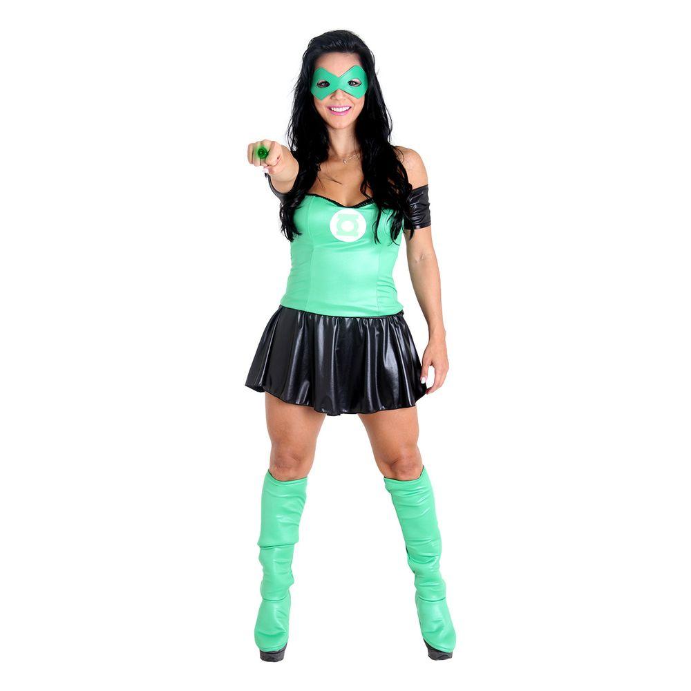 88097494994e85 Fantasia Lanterna Verde Feminina - Heat Girls | Abrakadabra ...