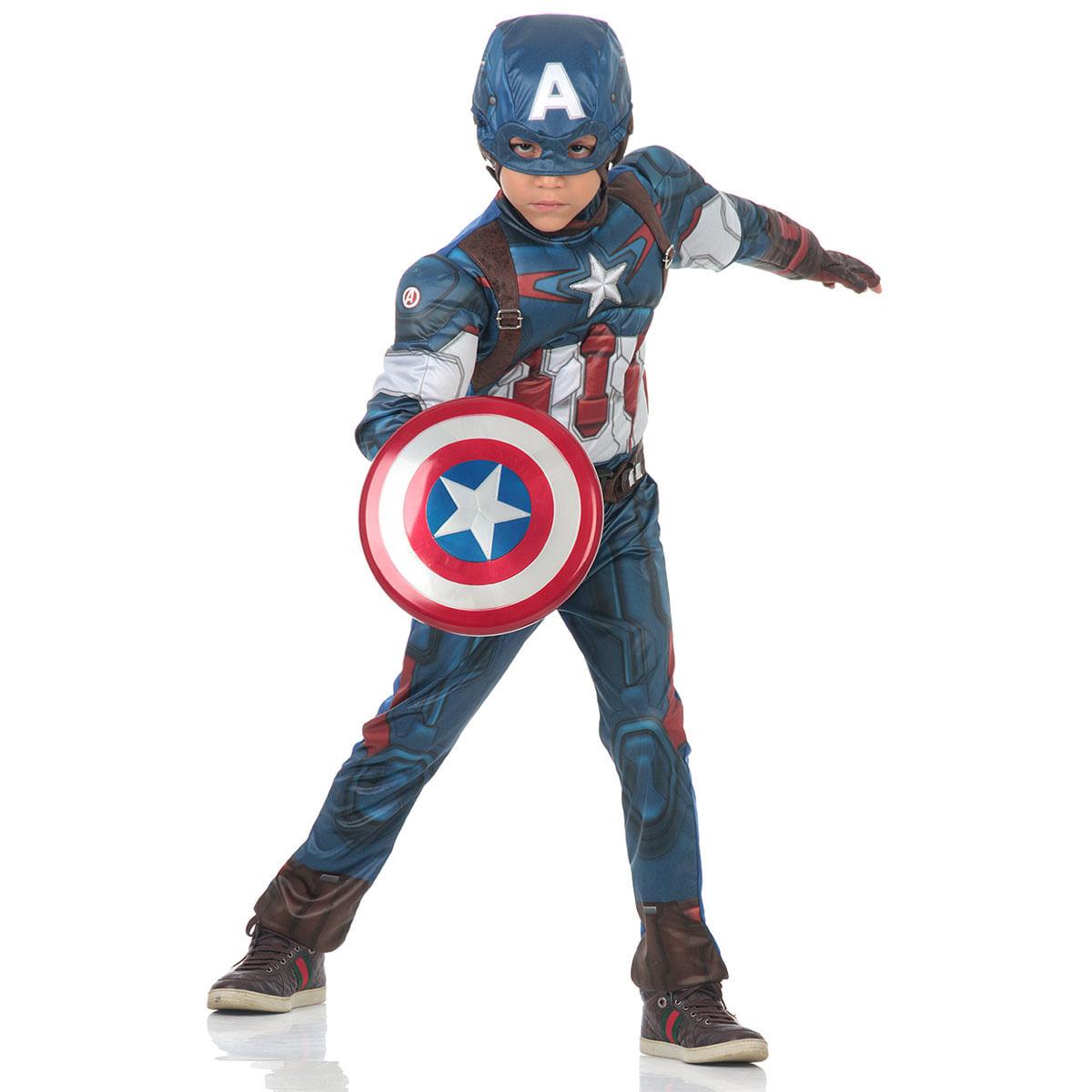 a53433bac COMPRAR · Fantasia Capitão América Infantil Peitoral - Avengers G