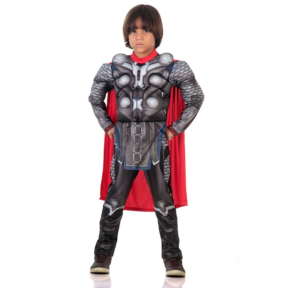 76f9530897f080 Fantasia Thor infantil para meninos - Vingadores Luxo - Abrakadabra