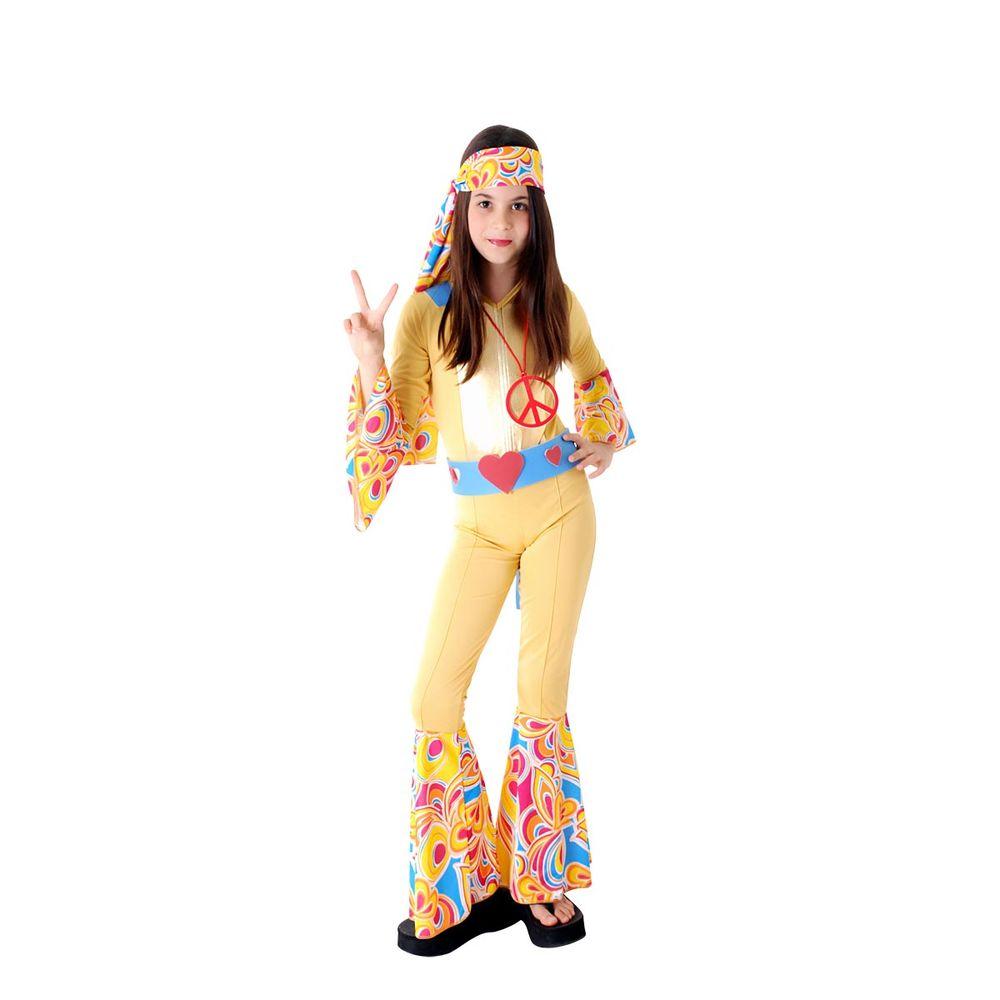 Fantasia Hippie Anos 70 - Amarelo   Abrakadabra - Abrakadabra 593db194a8
