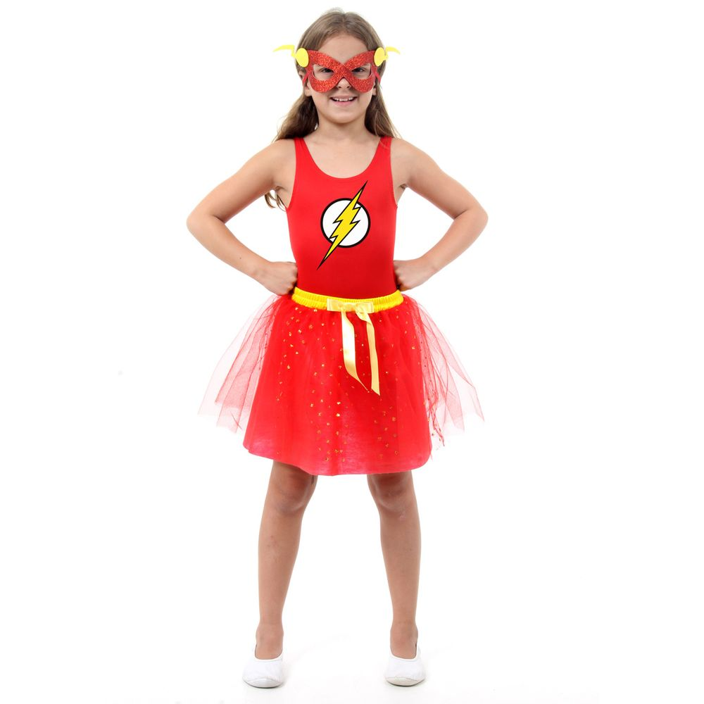8b58fefba539eb Fantasia Infantil Flash Infantil - Dress Up   Abrakadabra - Clube de ...