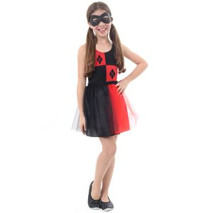 Fantasia Arlequina Infantil Dress Up - Super Hero Girls