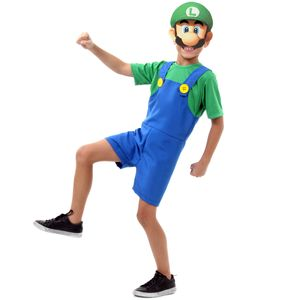 Fantasia Luigi Infantil Curto - Super Mario