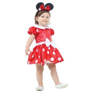 Fantasia Minnie Bebê Vermelha