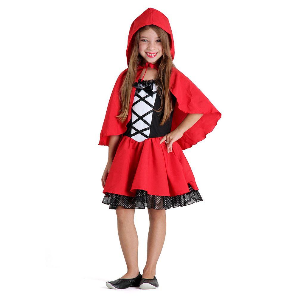 7e352b12bd Fantasia Chapeuzinho Vermelho Infantil Luxo