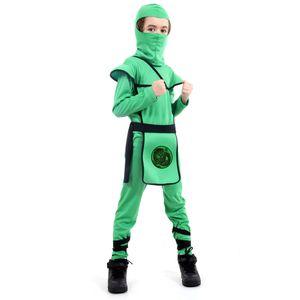 Fantasia Ninja Verde Infantil - Guerreiro Ninja