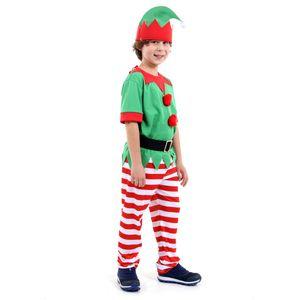 Fantasia Duende Masculino Infantil - Natal