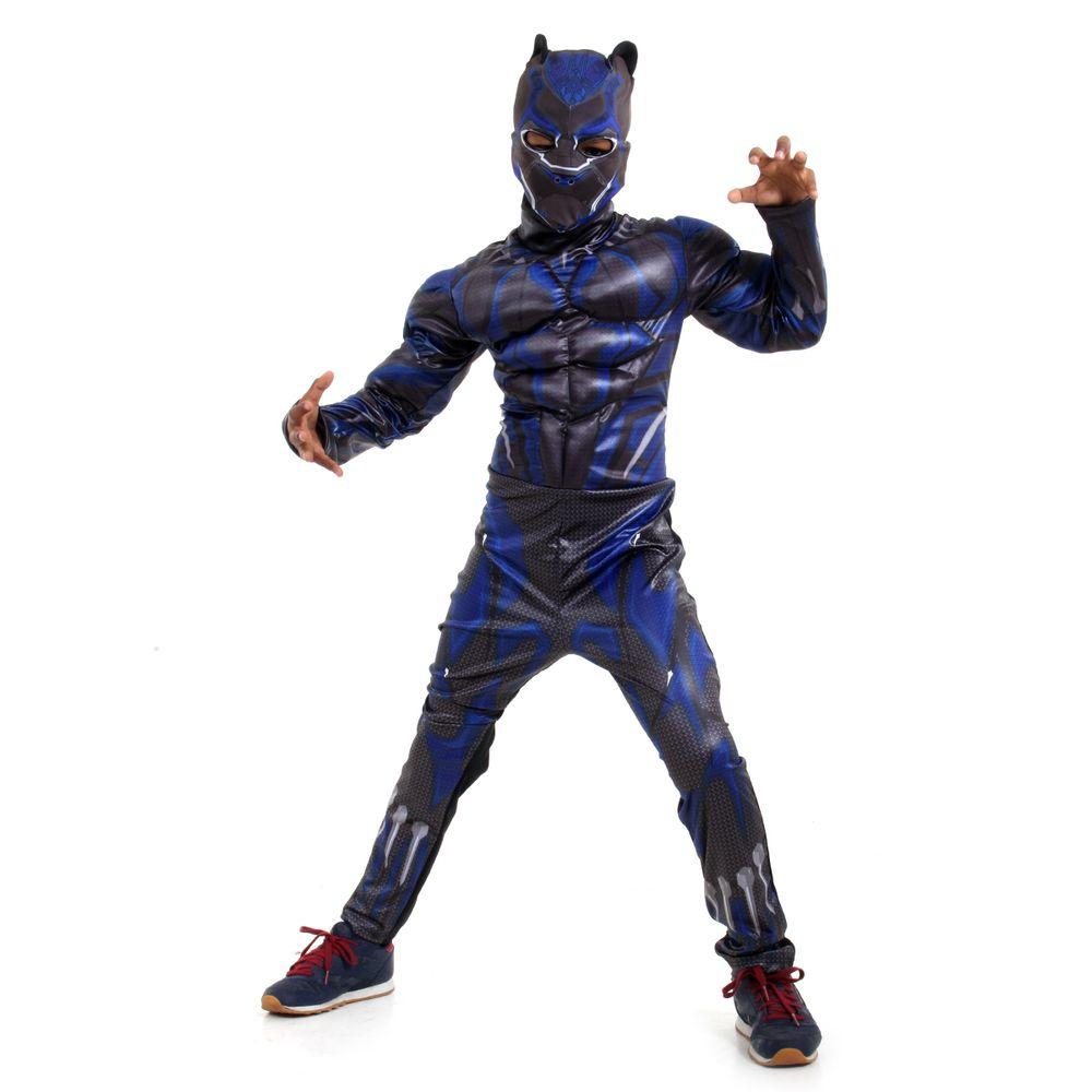 726231e1c65c0e Fantasia Pantera Negra Infantil com musculatura Marvel - Abrakadabra