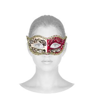 Máscara Veneziana Provençal - Bordô