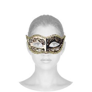 Máscara Veneziana Provençal - Preta