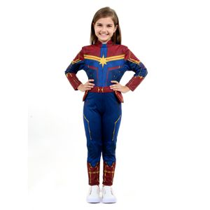 3fb7a490e4 Fantasia Capitã Marvel Infantil - Captain Marvel